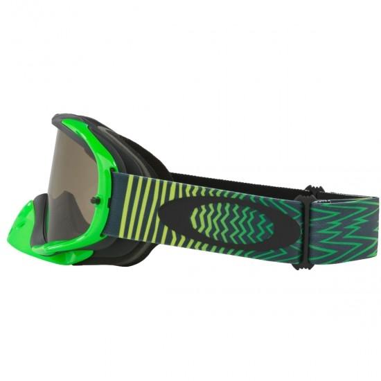 OAKLEY Crowbar MX Shockwave Green Yellow Dark Grey Goggles