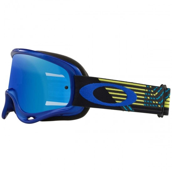 Lunettes OAKLEY MX O-Frame Circuit Yellow / Blue Black Ice Iridium