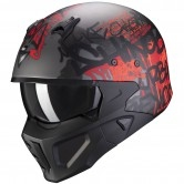 SCORPION Covert-X Wall Silver / Matte Red