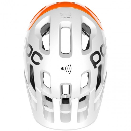 Casco POC Tectal Race Spin NFC Hydrogen White / Fluorescent Orange AVIP
