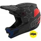 TROY LEE DESIGNS D4 Carbon MIPS Freedom 2.0 Black / Red