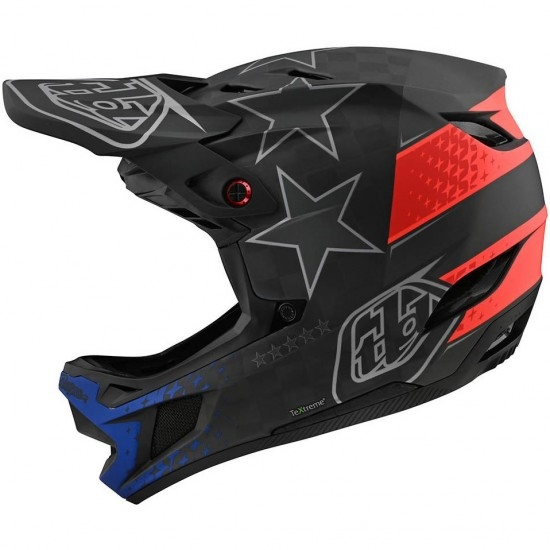 Casque TROY LEE DESIGNS D4 Carbon MIPS Freedom 2.0 Black / Red