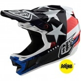 TROY LEE DESIGNS D4 Composite MIPS Freedom 2.0 Red / White