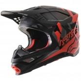 ALPINESTARS Supertech S-M8 Echo Black / Gray / Red Fluo Matt & Glossy