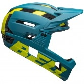 BELL Super Air R Mips Matte - Gloss Blue / Hi-Viz