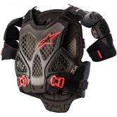 A-6 Chest Black / Anthracite / Red